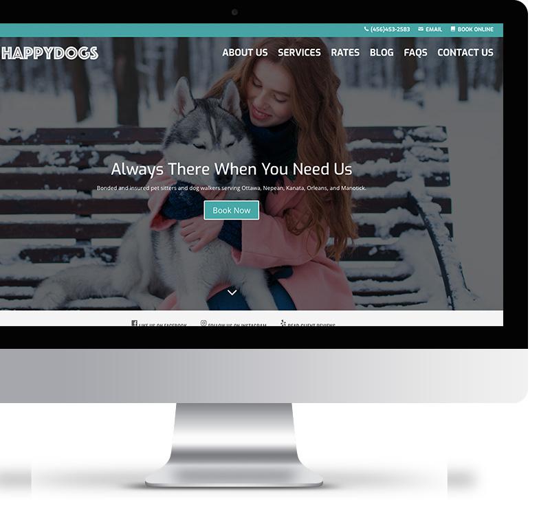 Pro Dog Walker Website Template